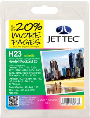 High Quality Jettec Recycled C1823A - No 23 Colour Compatible Cartridge