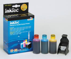 InkTec Matching refill kit HPI-4060C for the HP 301 Colour Cartridges