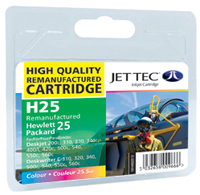 HP 51625A - No25 - Jettec Recycled Colour Cartridge