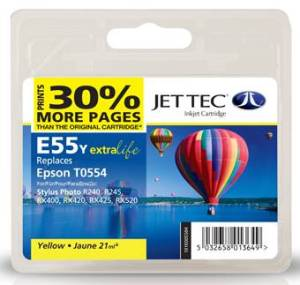Jettec Yelloe Compatible Cartridge for Epson Stylus Photo RX400 · RX420 · RX425 · RX520 · R240